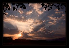 Wunderbarer Sonnenaufgang,