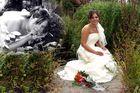 Wunderschöne Braut im Allgäu