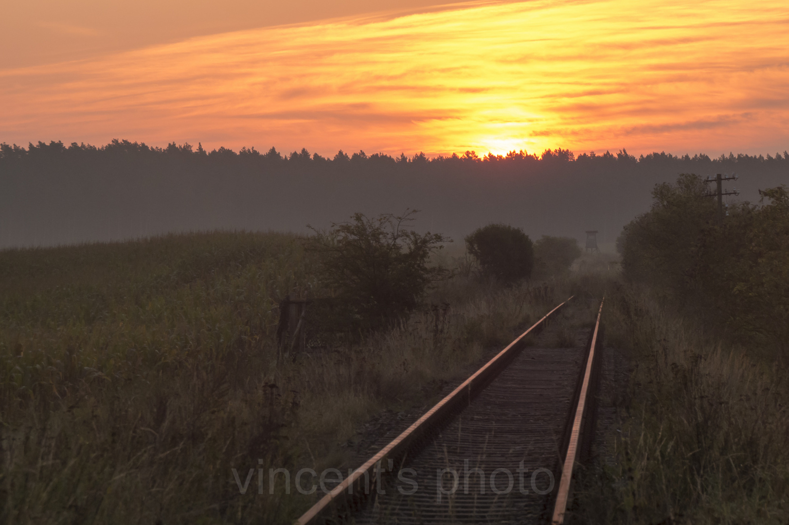 Wunderschöner Sonnenaufgang im schönen Mecklenburg