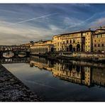 Wunderschönes Florenz - Abends am Arno
