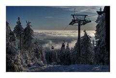 """Wurmberg / Harz """" die Seilbahn, und der Blick ins Tal...."""