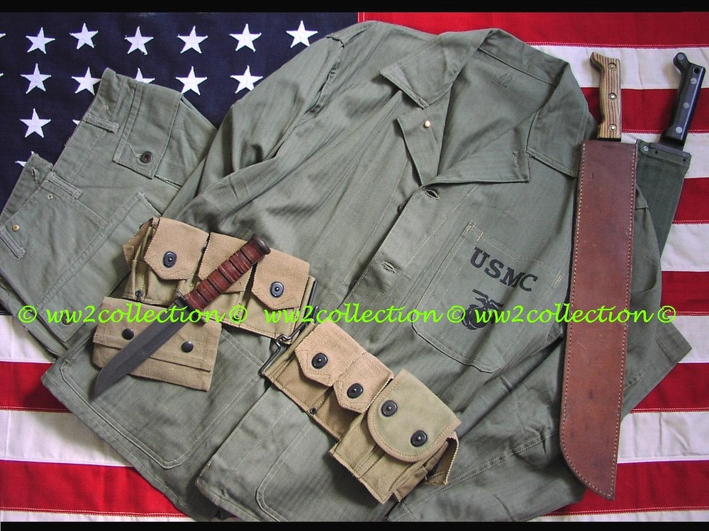 WW2 USMC HBT Jungle Uniform