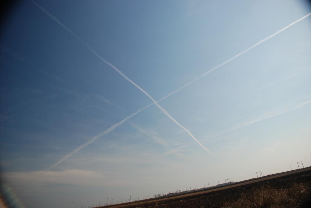 """"""" X """" on the sky"""