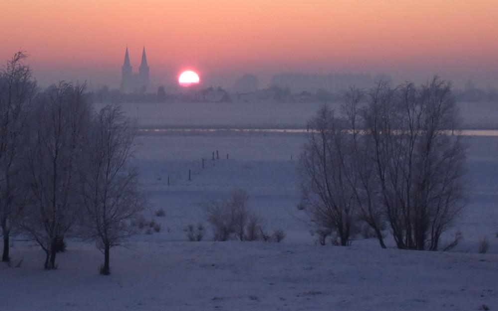 Xanten, Dom, Abendlicht, Winter!