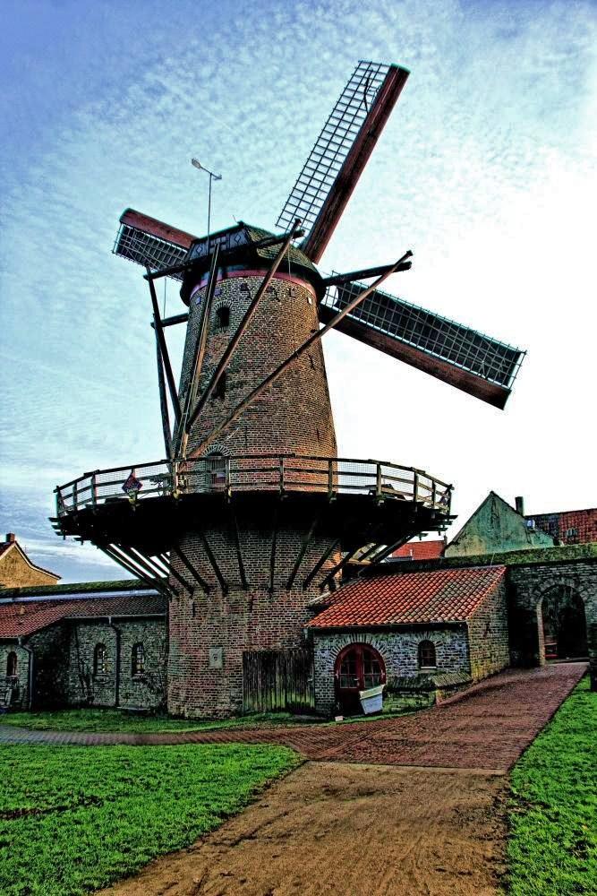 Xantener Mühle mit Anbauten