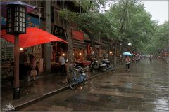 Xi'an - Quartier musulman sous la pluie