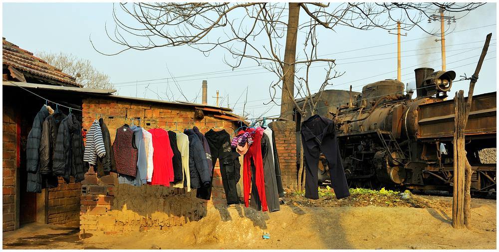 Xingyang - Wäscheleine 2011