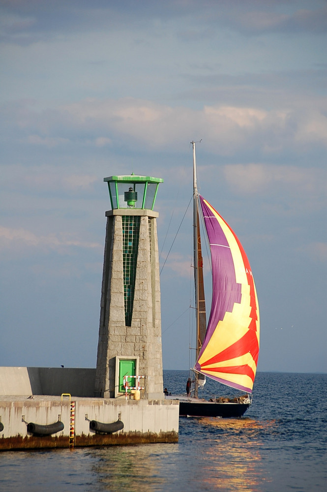 Yacht arrival in Gdynia