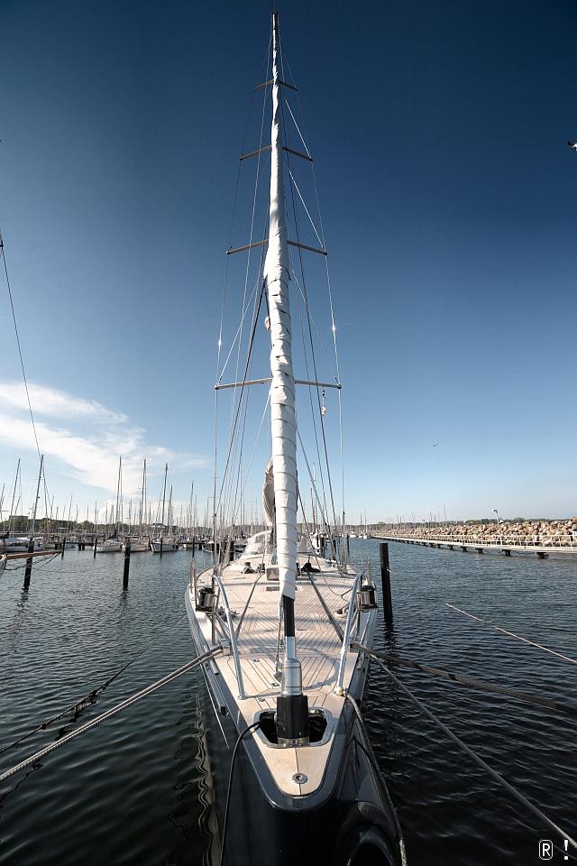 Yacht im Olympiahafen!