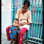 YANGOON: MOTHER AND SON....