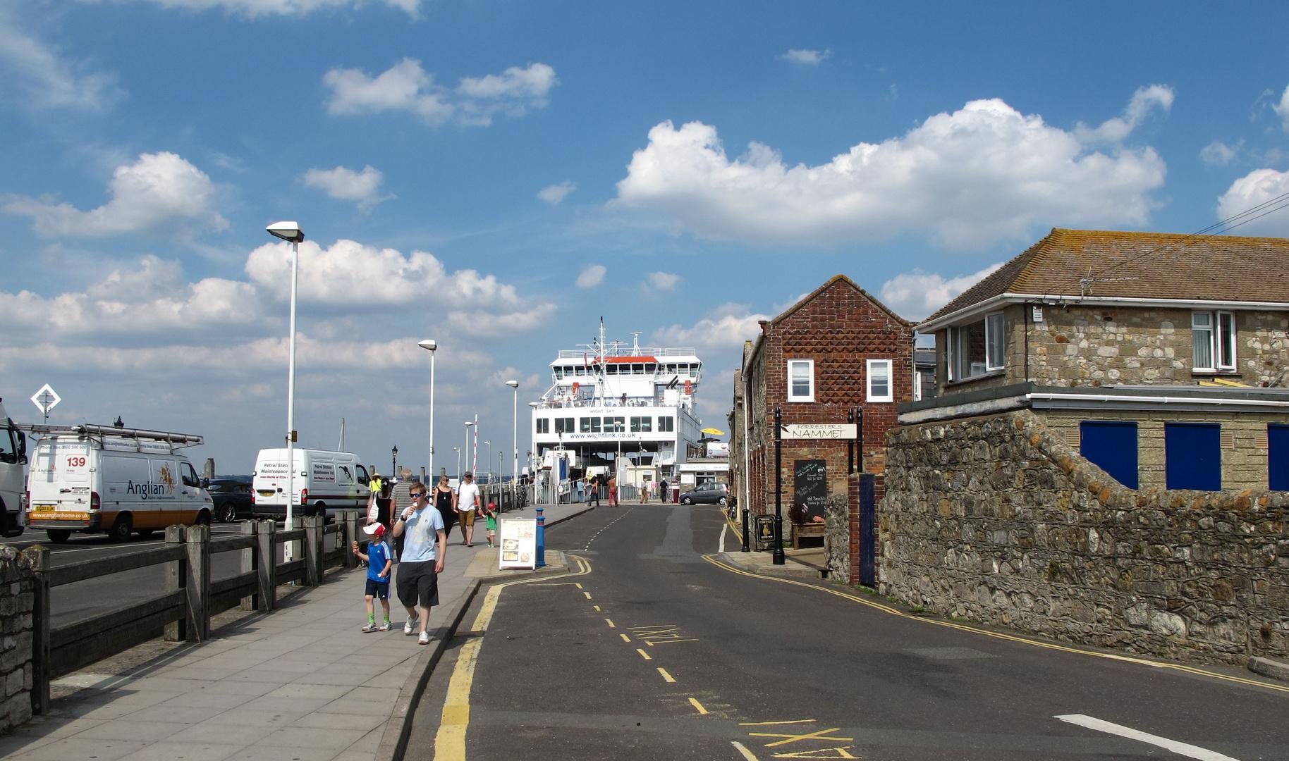 Yarmouth mit der Fähre nach Lymington.