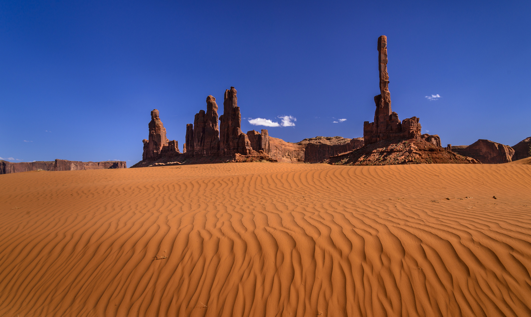Yei Bi Chei und Totem Pole, Monument Valley, Arizona, USA