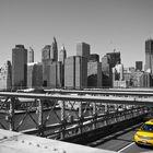 Yellow Cab @ Brooklyn Bridge