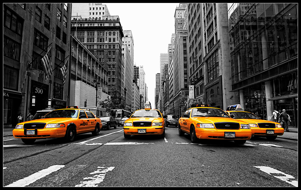 .yellow cabs.