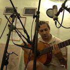 Yo grabado en el estudio de Denis Lozar