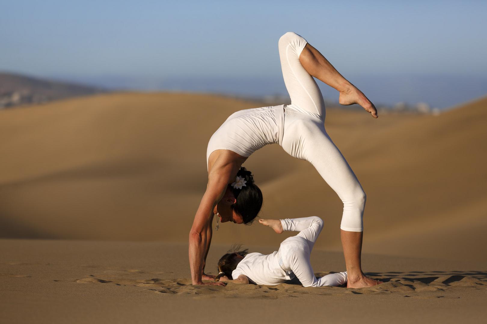 Yoga Bein hoch
