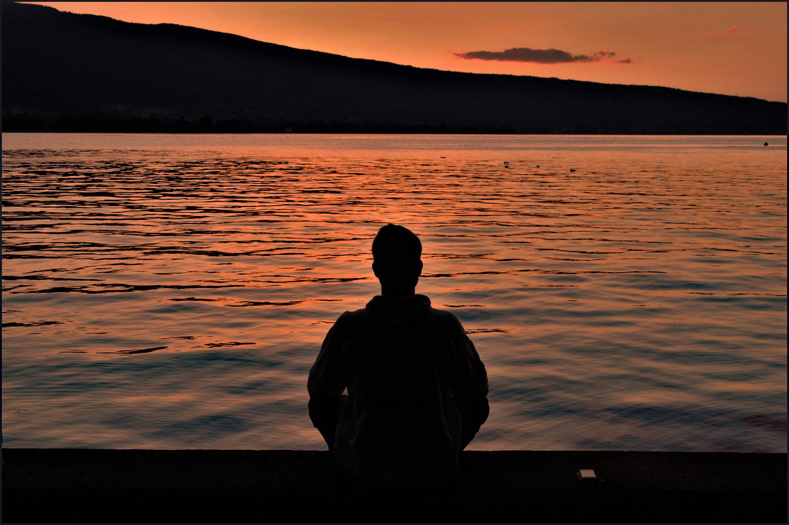 Yoga et méditation au bord du lac....