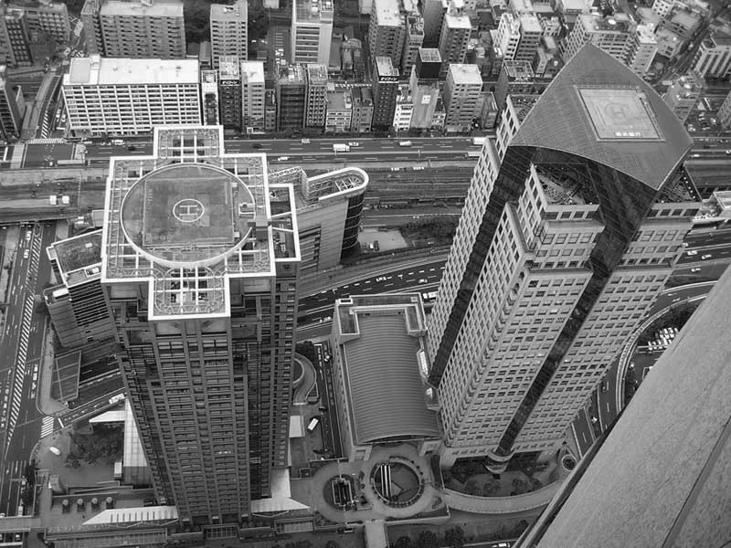 Yokohama buildings from above