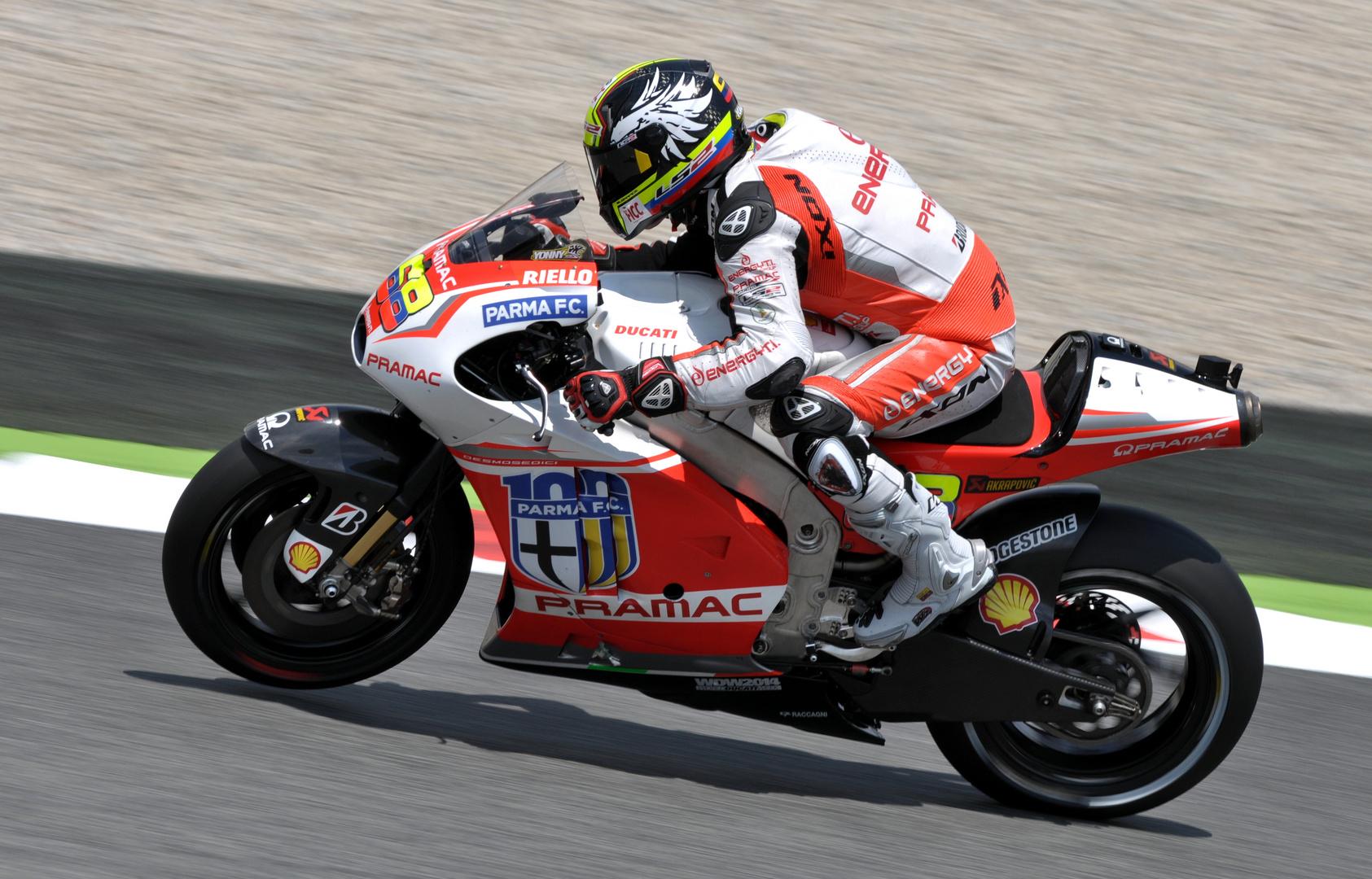 Yonny Hernandez auf der Pramac Ducati