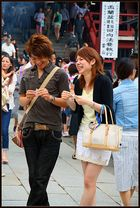 Young couple in Asakusa Temple