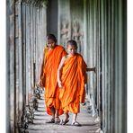 Young monks at Angkor Wat