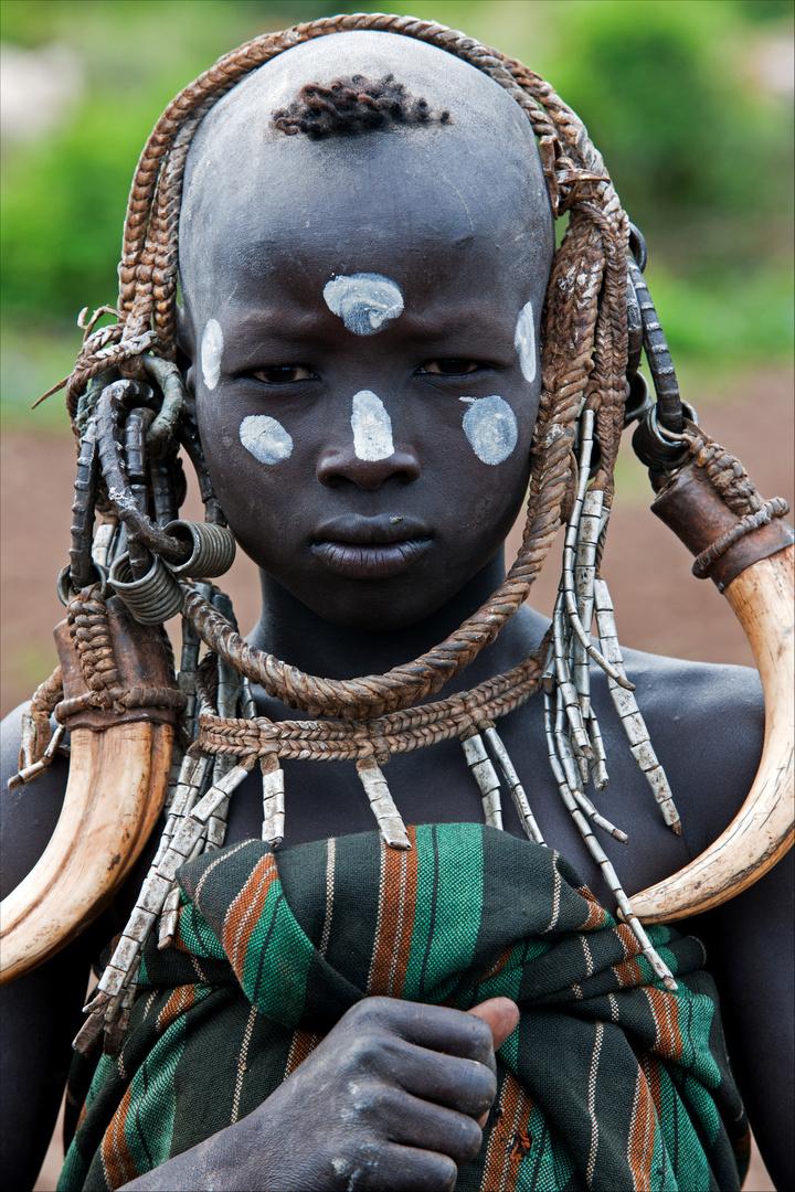 [ Young Mursi Warrior ]