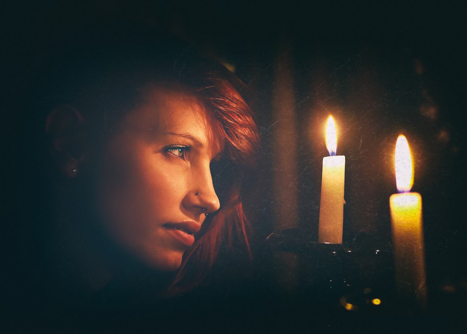 """*YR-24* """"candle light dreams instead of November blues""""   (available light)"""