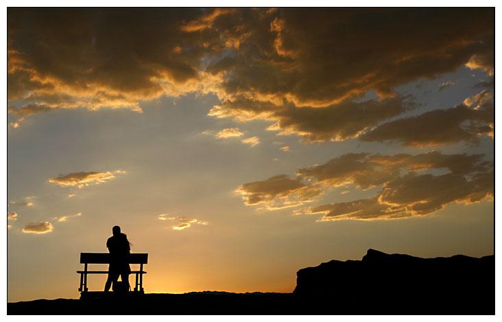 Zabriskie Point, CA - Sonnenuntergang