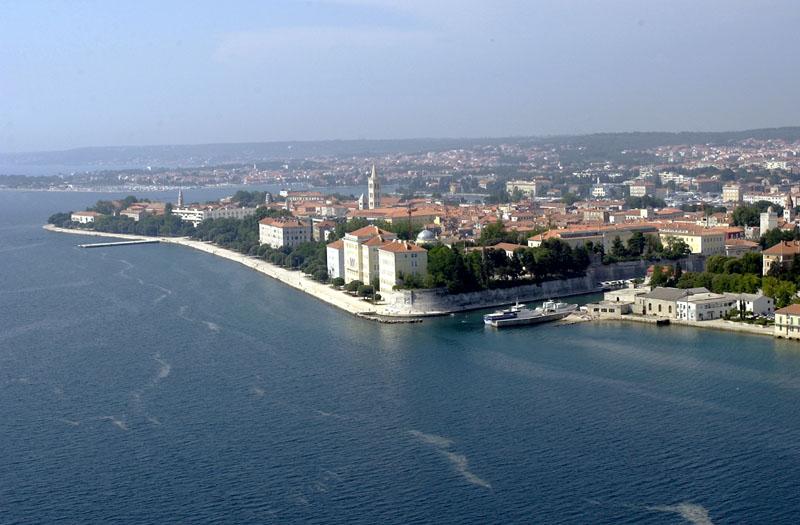 Zadar aus der Luft