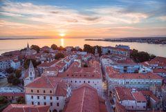 Zadar im Sonnenuntergang