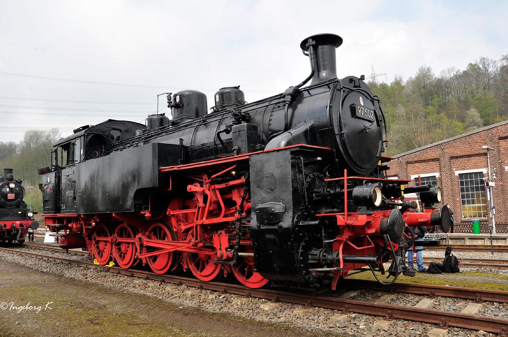 Zahnradlok 97 502 - Bj. 1922 - ausgedient
