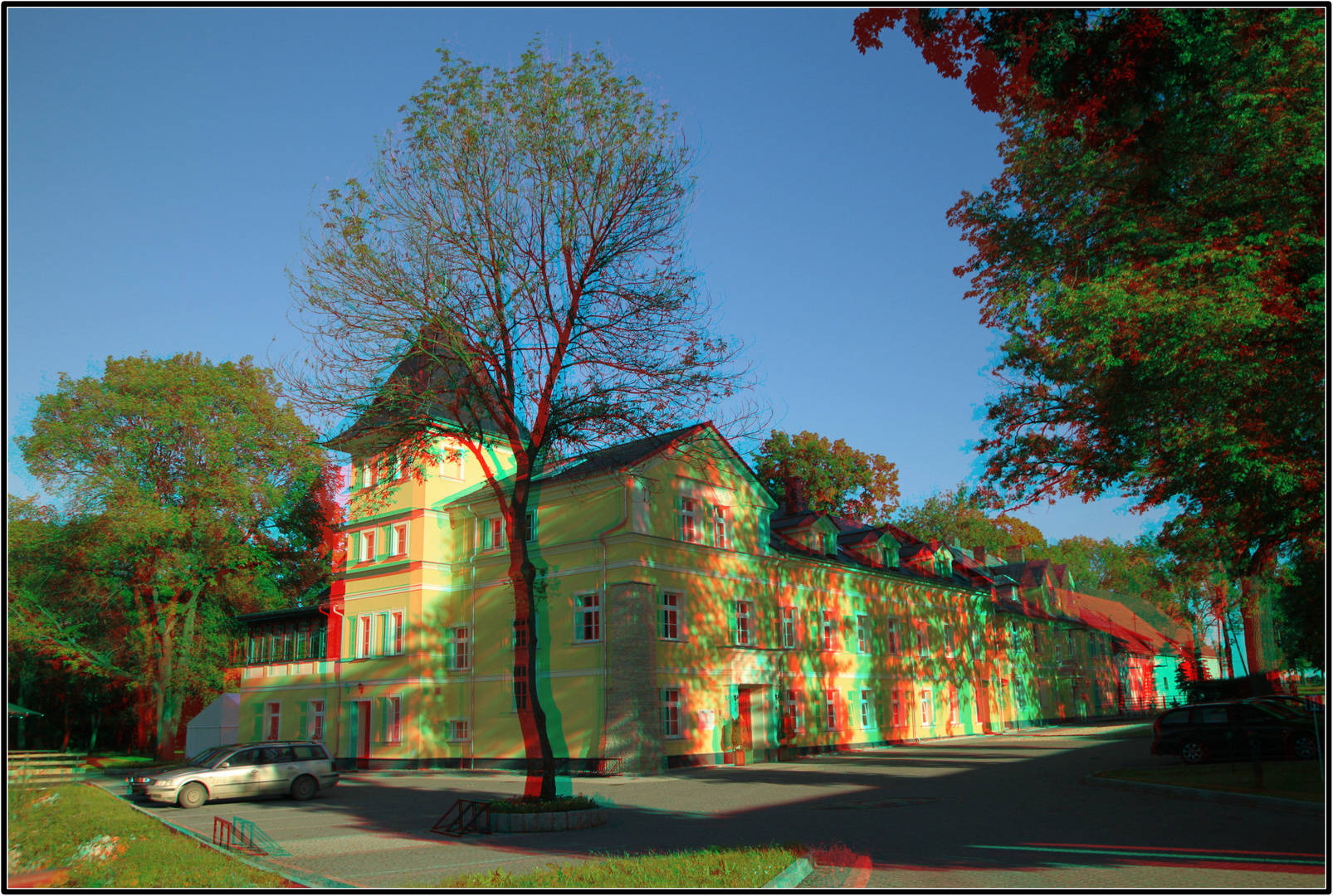 "Zakrzow, Hotel ""Palac Lucja"" - 3D - Anaglyph - Rot/Cayn"