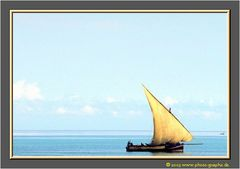 Zanzibar 2001 - Dhow at Sunset - Near Stone Town