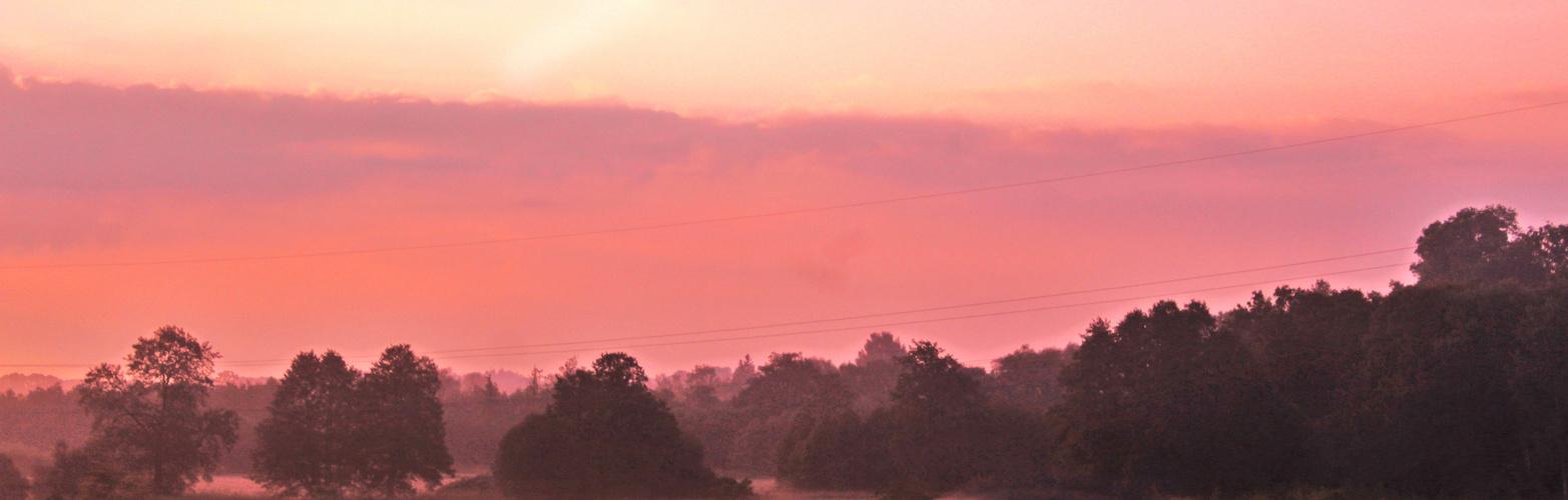 zartes Rosa bis zum Horizont ...oder Morgenstunde