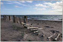 Zaun am Strand...