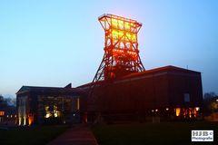 Zeche Consolidation »Consol« in Gelsenkirchen in der Blauen Stunde