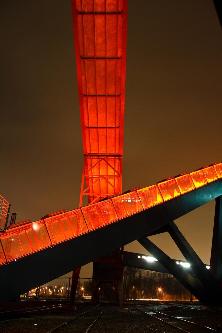 Zeche Zollverein - Aufgang zur Kohlenwäsche - nachts