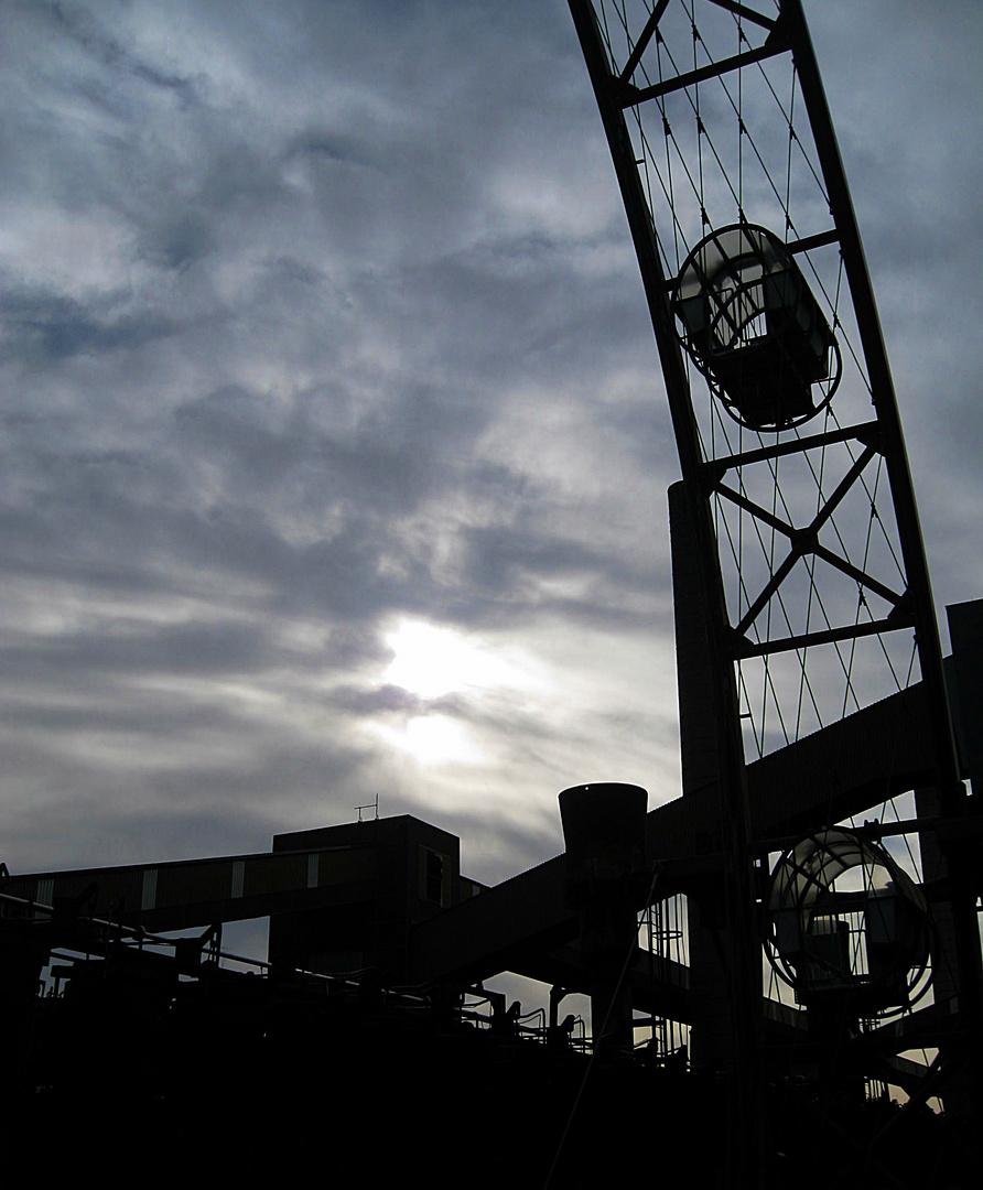Zeche Zollverein , Essen, Unesco-Welterbe  Sonnenrad