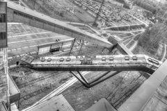 Zeche Zollverein Rolltreppe von oben