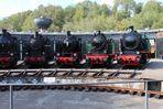 Zechenbahnlokomotiven an der Drehscheibe