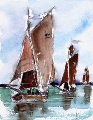 Zeesboote auf dem Bodden