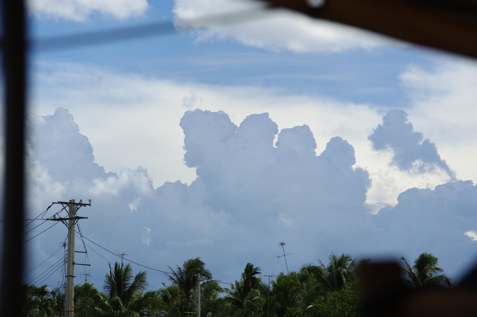 Zehenwolke über dem Mekongdelta