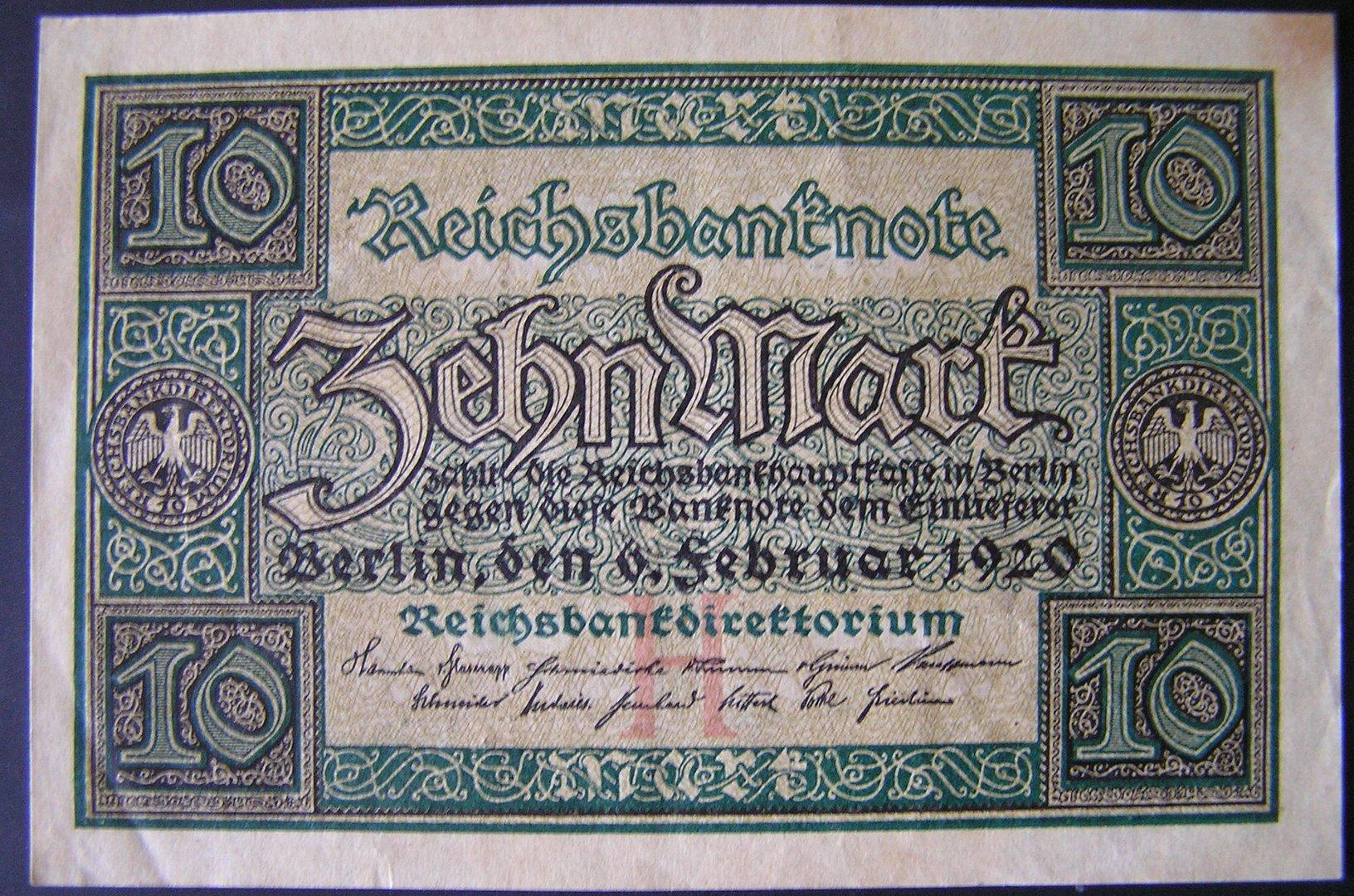 Zehn Mark  1920
