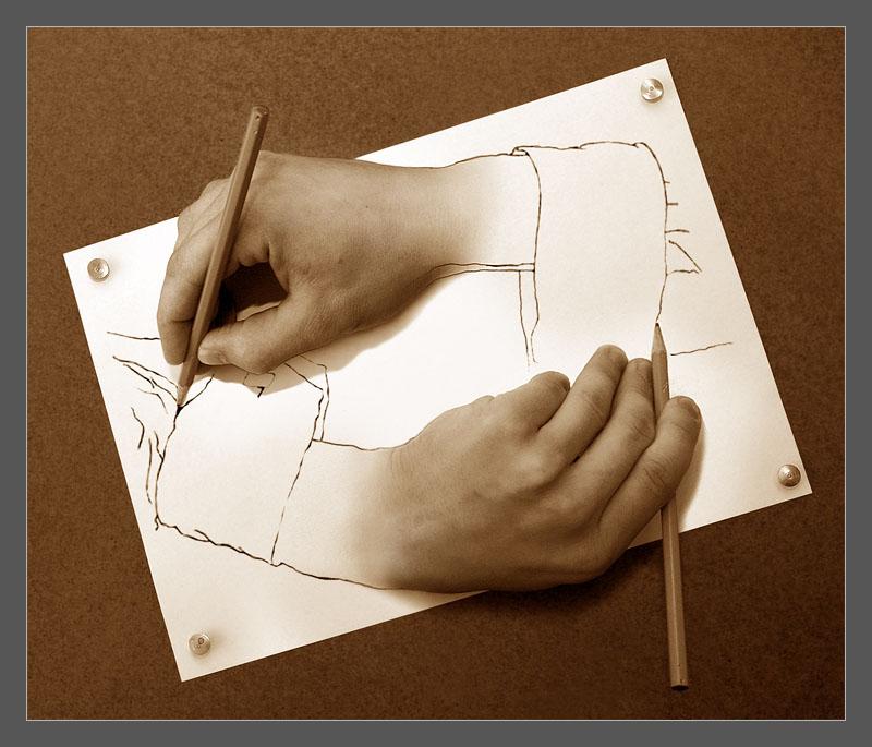 Zeichnende Hände