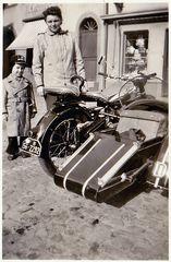 Zeit - Doku 1954: NSU 500-Gespann mit Besatzungskennzeichen