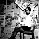 Zeitung lesen, wofür? In einem Märchenbuch sind die Geschichten spannender