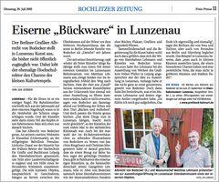 Zeitungsartikel – Lunzenau