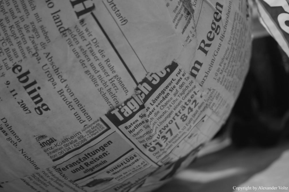 Zeitungsgeschnipsel