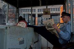 Zeitungsschau im Drehscheibenhäusle