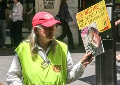 Zeitungsverkäufer street Australia